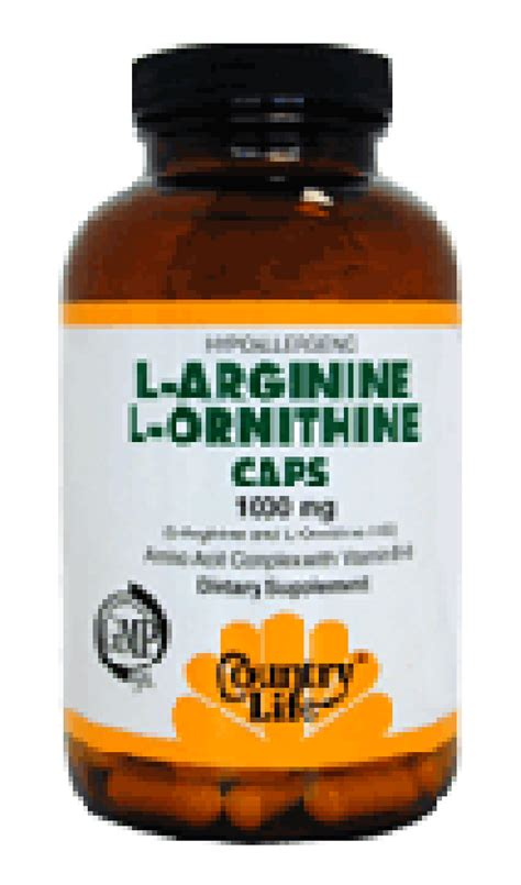 arginine before bed country life l arginine and l ornithine 1000mg 90 capsules
