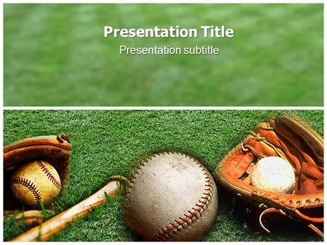 Baseball Themed Powerpoint Template free other design file page 39 newdesignfile