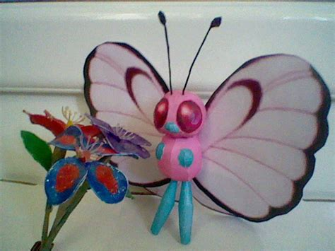 Butter Paper Craft - pink butterfree papercraft by princessstacie on deviantart