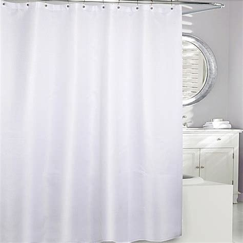 waffle fabric shower curtain moda at home waffle fabric shower curtain bed bath beyond