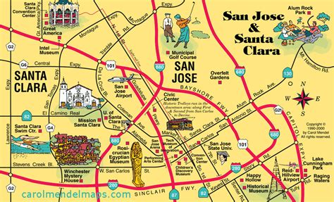 san jose map map of san jose my