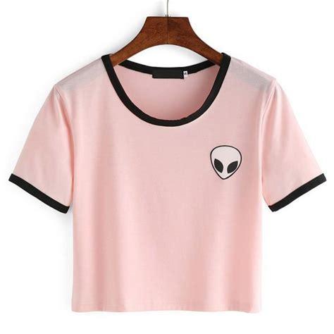 I Mickey Crop Rumbai Tshirt harajuku stripe sleeve cotton