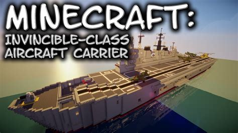 How To Make A Aircraft Carrier Out Of Paper - minecraft aircraft carrier tutorial invincible class