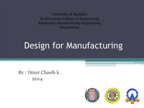 design for manufacturing presentation dfma design for manufacturing and assembly