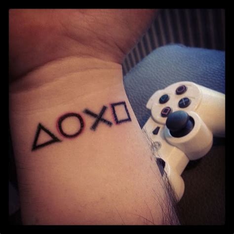 playstation tattoo playstation tattoos