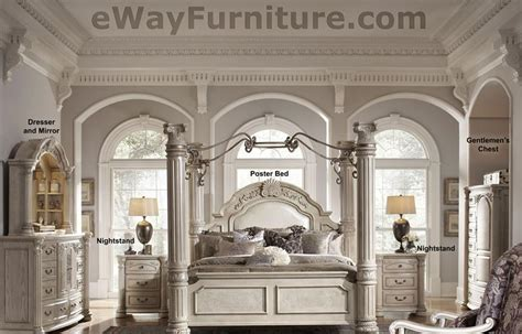 silver pearl  poster bedroom set  iron canopy