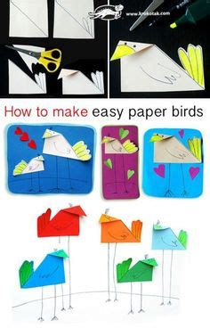 How To Make A Simple Paper Bird - 1000 images about cr 233 ation animaux on paper