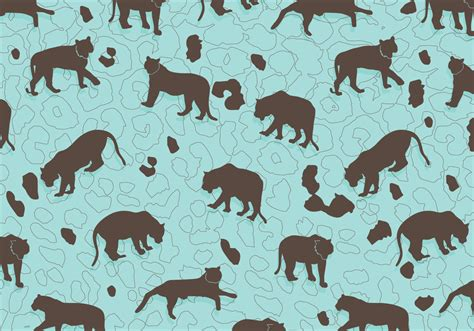 pattern tiger vector tiger silhouette pattern vector download free vector art