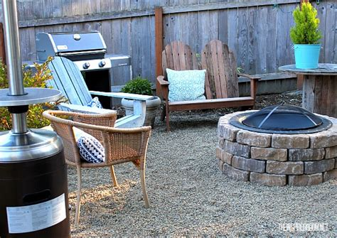 Diy Backyard Makeover Ideas by Easy Diy Firepit Progress On The Fall Backyard Makeover