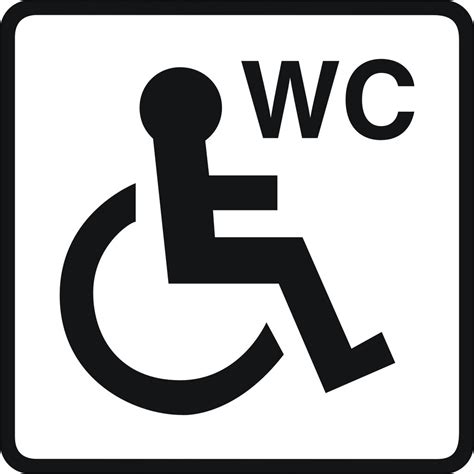 Funny Wall Stickers toilet signs 5 vinyl disabled wheelchair unisex ladies