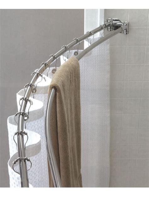 Custom Shower Rods curved shower rod