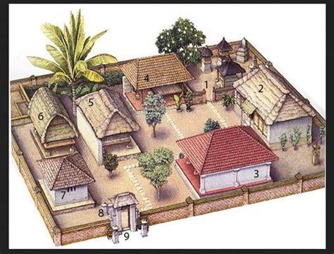 layout rumah tradisional bali rumah adat bali filosofi penakan penjelasan detail