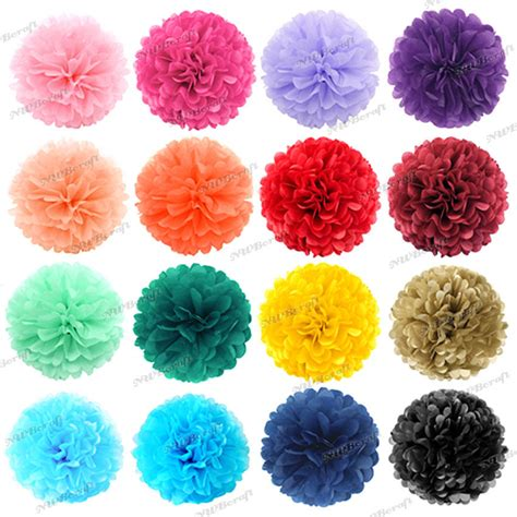 How To Make Pom Pom Balls With Tissue Paper - tissue paper pompoms pom poms flower balls fluffy wedding