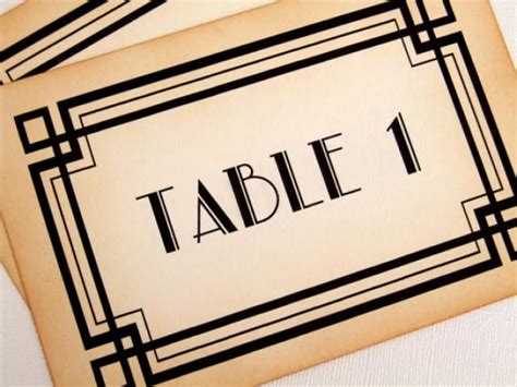 deco table numbers deco table numbers great gatsby wedding table numbers