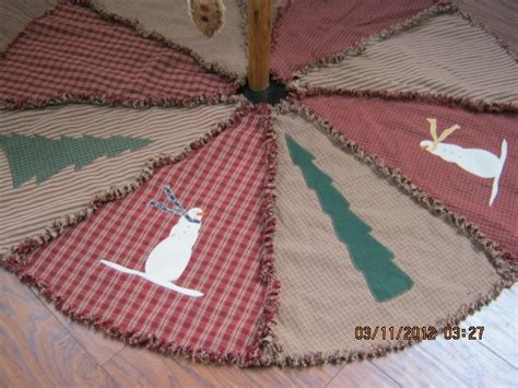 primitive raggy christmas tree skirt christmas