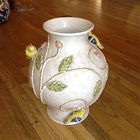 Handmade Italian Pottery - handmade ceramic birds vase italian pottery outlet