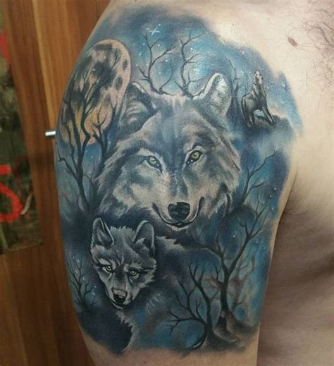 wolf family tattoo designs american shoulder for models picture