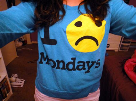 I Monday Yellow Shirt sweater monday blue yellow smiley
