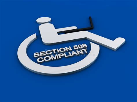 section 508 compliance wikipedia section 508 accessibility disability royalty free stock