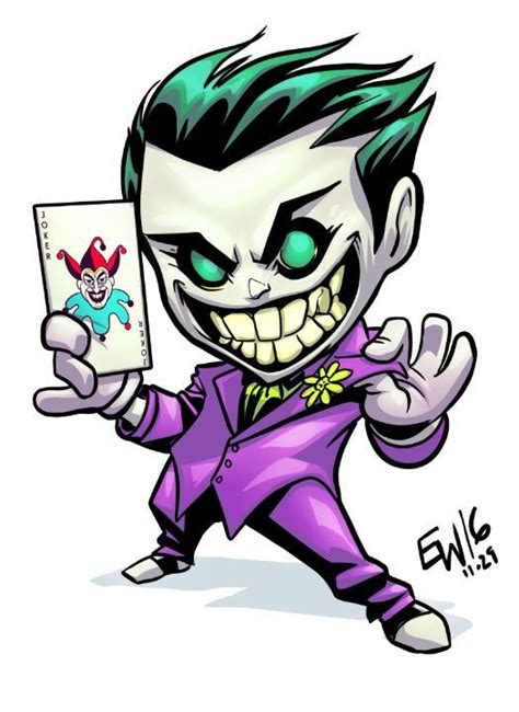 tattoovorlage cartoon joker chibi commission by eryckwebbgraphics joker