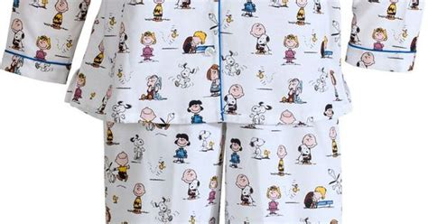 Pijama Snoopy Happy brown and the peanuts s cotton flannel