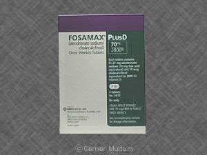fosamax   alendronate  cholecalciferol drug side
