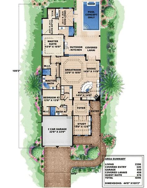florida house plans narrow lot house design plans marvelous in law suite