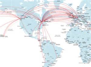 air canada route map europe and south america
