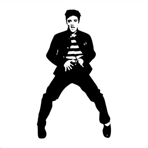 Tree Silhouette Wall Sticker pics for gt elvis presley black and white painting