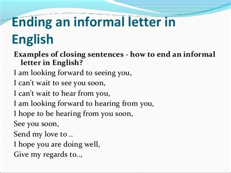 Letter Closing Much 180 S Informal Email Anyway Intermediate