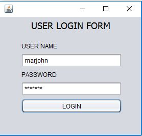 java swing login login form using java swing source code 28 images sle