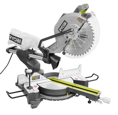 ryobi 12 inch sliding compound miter saw with laser the