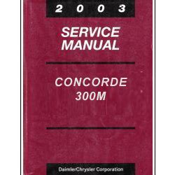 online car repair manuals free 2003 chrysler concorde security system 2003 chrysler concorde 300m and dodge intrepid service manual