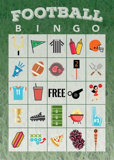 Football Bingo Cards To Print free printable football bingo the shirley journey