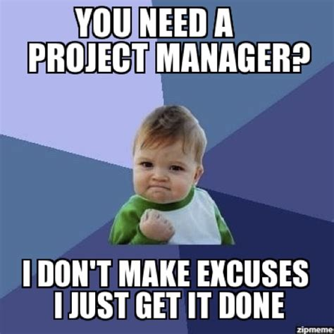 Meme Project Manager - how to get a project management job break into tech