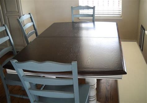Refinished Oak Table And Chairs Home Interiors Refinishing Dining Room Chairs
