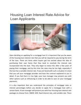 ppt housing improvement loan interest rates powerpoint