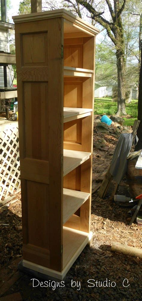 how to build a bookcase using an door