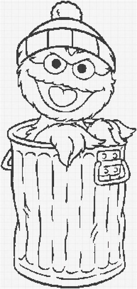 Cro Knit Inspired Creations By Luvs2knit Sesame Street Oscar The Grouch Coloring Pages
