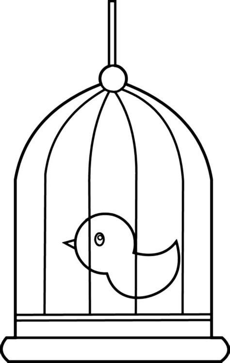 coloring page bird cage cute little bird cage coloring pages best place to color