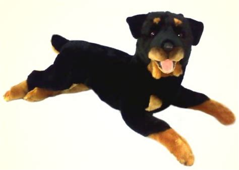 plush rottweiler plush lying rottweiler stuffed animal