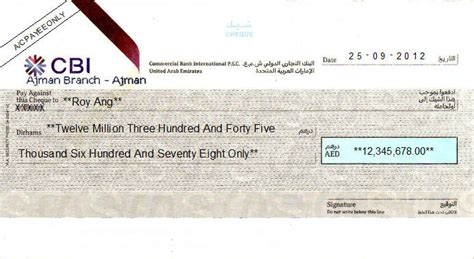 emirates bank international dubai cheque writing printing software for united arab emirates