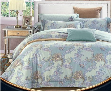 green paisley comforter mint green blue paisley bedding set egyptian cotton sheets