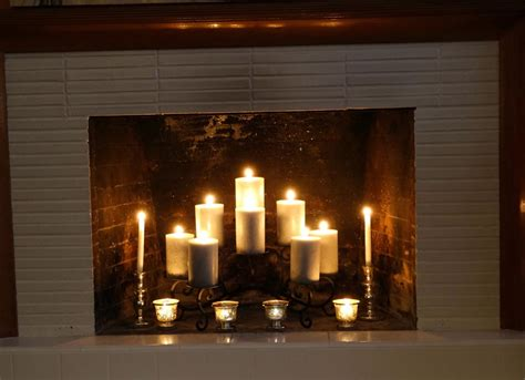 Candle Fireplace Inserts by Fireplace Inserts Candle Holders Fireplace Designs