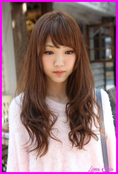 models with bangs korean haircut for girls with side bangs livesstar com