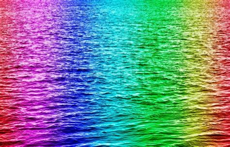 colorful water rainbow colored water waves stock photo colourbox