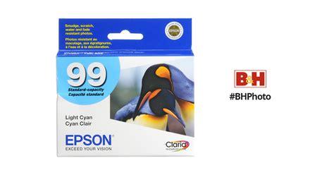 epson ink 99 light cyan epson 99 light cyan ink cartridge t099520 b h photo