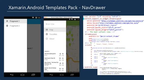 xamarin android templates pack material design extending optimizing and accelerating xamarin and