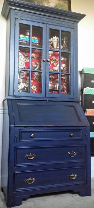 diy blue chalk paint diy makeover with napoleonic blue chalk paint