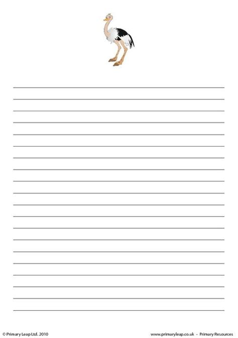 writing paper uk ostrich writing paper primaryleap co uk